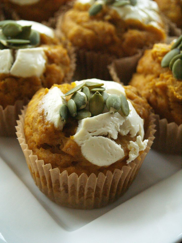 Better-than-Starbucks' Pumpkin Cream Cheese Muffins - naturally ...