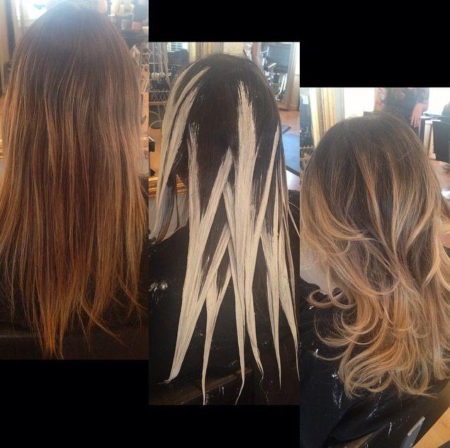 Растяжка цвета волос в домашних условиях видео