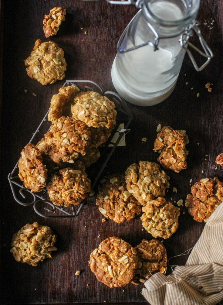 Orange, Almond Anzac biscuits | cookies and bars | Pinterest