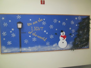 Always put together phase 2 of the winter bulletin board at church