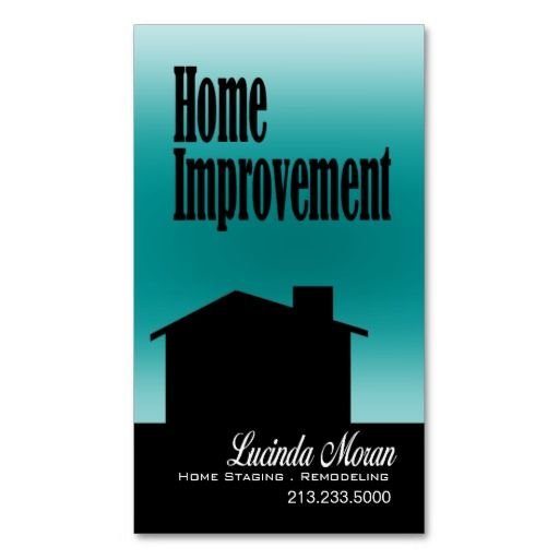 Home improvement remodeling home staging interiors for Home improvement business card template