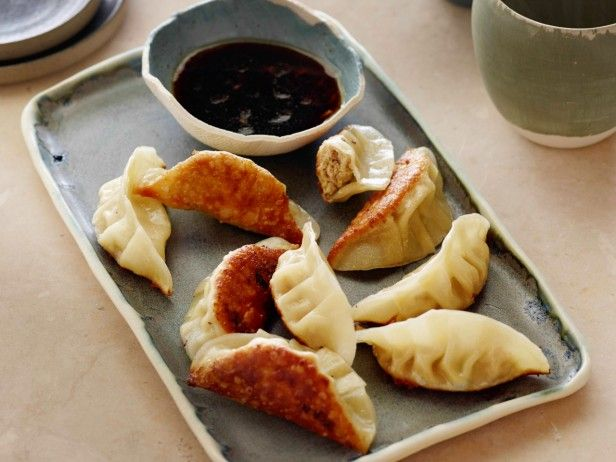 Japanese Pork Gyoza with Ginger Dipping Sauce from CookingChannelTV ...