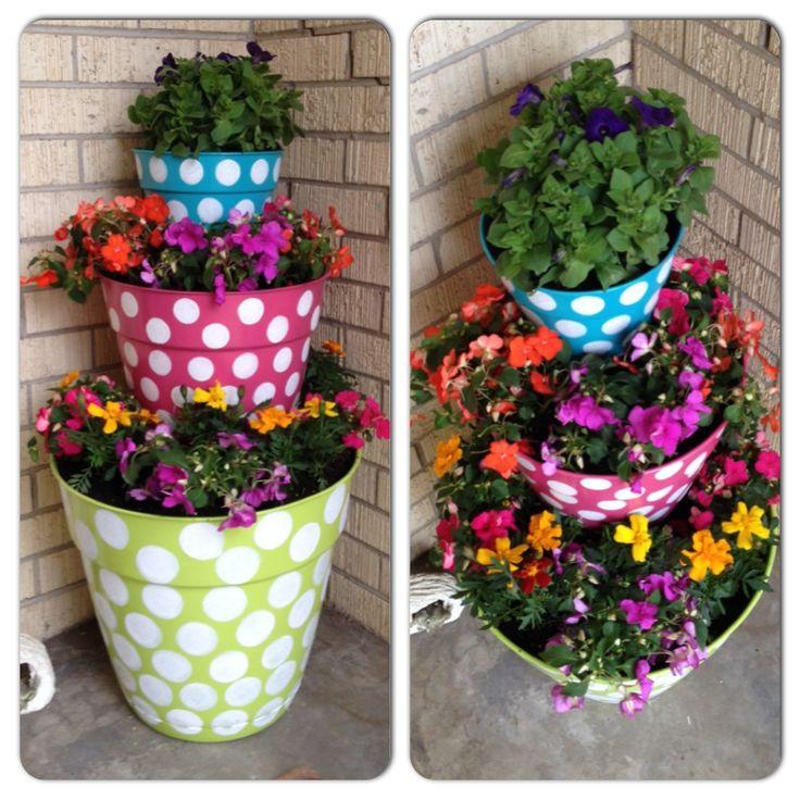 Painted flower pots flower pot ideas pinterest for Flower pots design images