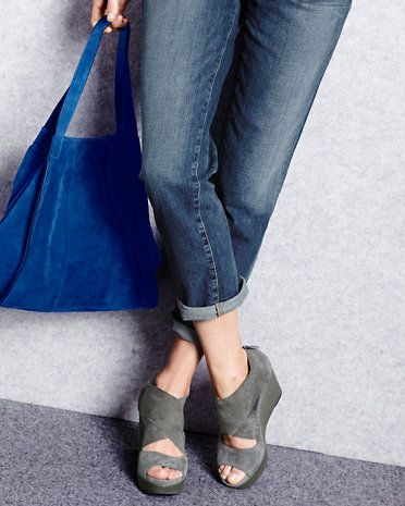 eileen fisher draw suede wedge shoes images frompo