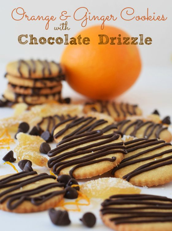 Orange & Ginger Cookies with Chocolate Drizzle - your homebased mom