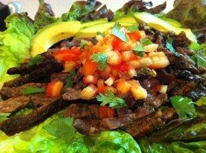 Flank steak taco salad | food | Pinterest