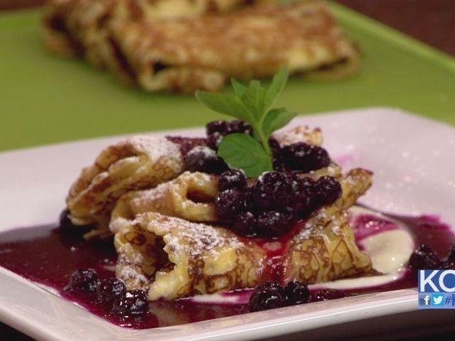 Blueberry Blintzes #brunch #breakfast | Tastes GREAT | Pinterest