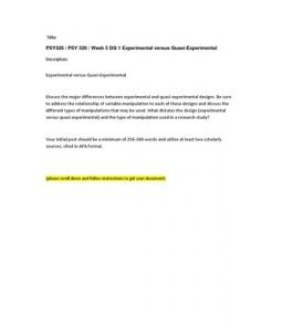 BUS235 Week 5 DQ 1 Super Bowl Advertising ASHFORD