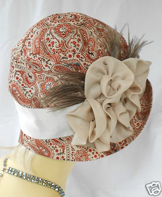 1920s vintage inspired silk cloche hat flapper great gatsby downton
