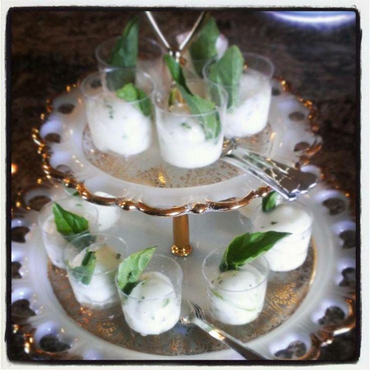 Basil lime sorbet cups #catering #babyshower #bridal shower #ladies ...