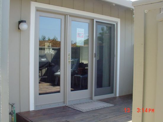 Andersen three panel french door lake pinterest for Anderson french doors