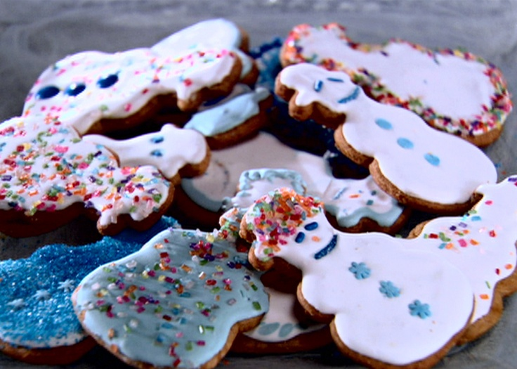 Gingerbread Cookies with Royal Icing from FoodNetwork.com add extra ...