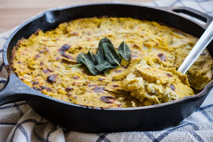 ... Scalloped Potatoes with Butternut Squash and Sage Cashew Cream Sauce