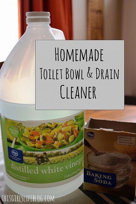 Homemade Toilet Bowl Drain Cleaner