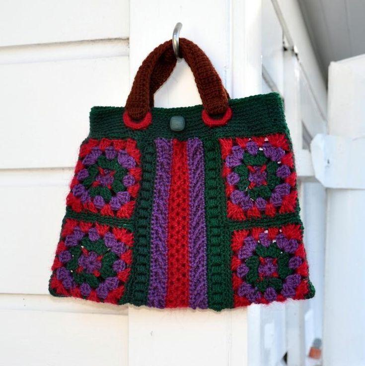 Granny Square Bag : Granny Squares Chic Bag Granny Squares Pinterest