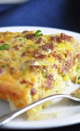 Hash Brown-Crusted Quiche with Sausage | Food Ideas | Pinterest