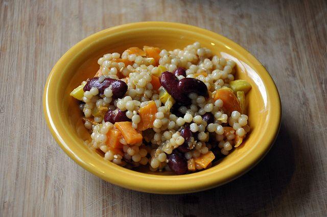 Cold Sesame Pearl Couscous Recipe — Dishmaps