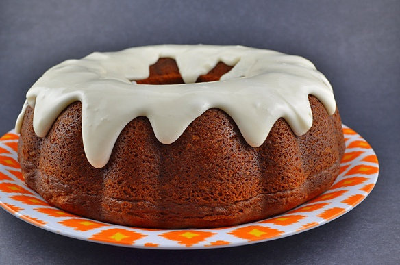 Pumpkin Bundt with Cheesecake Filling