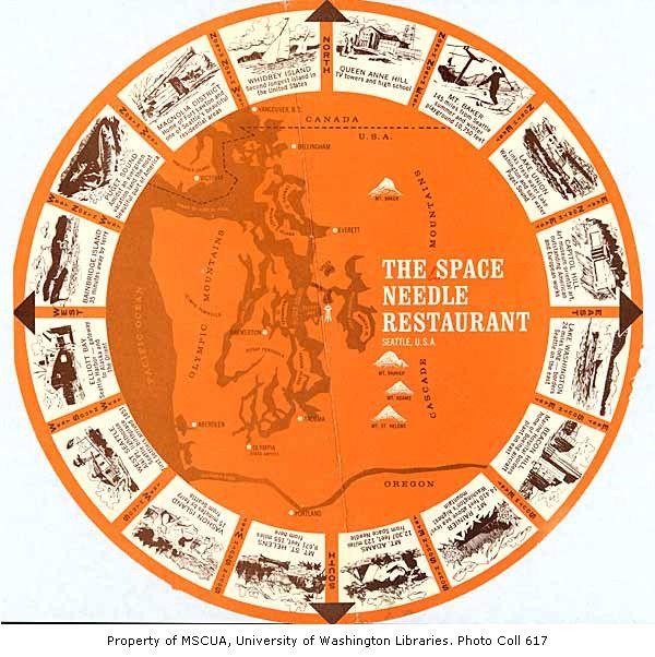 Space Needle Restaurant Menu, ca. 1962   World's Fairs