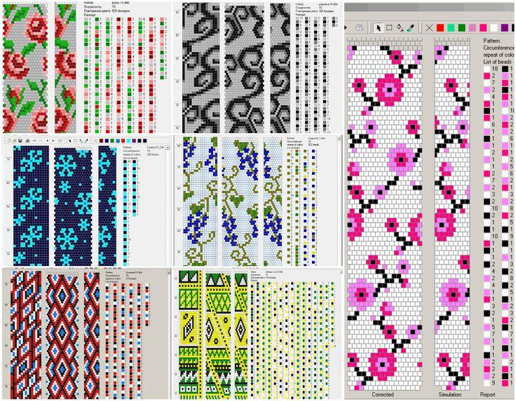 Схемы вязания бисерных жгутов крючком 73