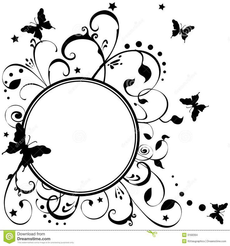 butterflies, flowers, stars art (1300×1390)