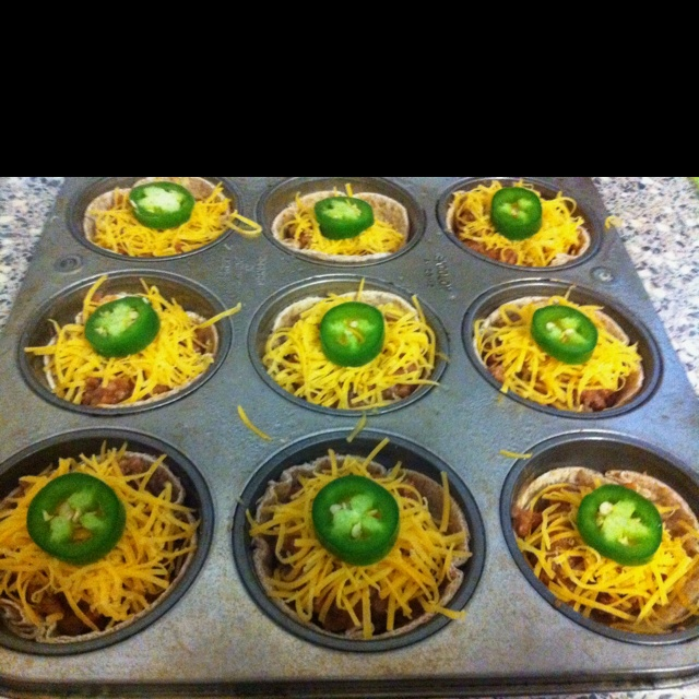 My 'Mini mexican pizzas' - very easy. Recipe: http//:www.dashingdish ...