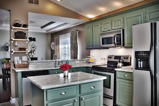 Kitchen Cabinets Painted Dried Thyme By Sherwin Williams