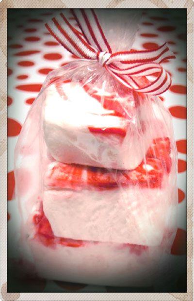 Candy-Cane Marshmallows Recipe — Dishmaps