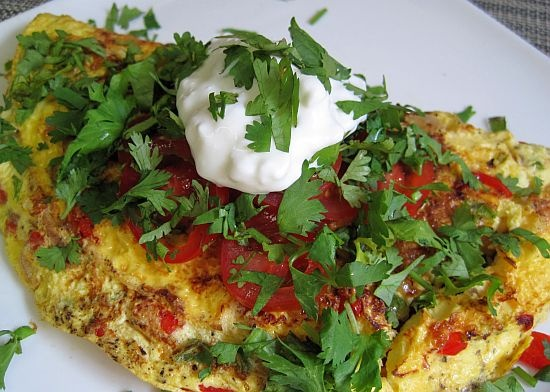 Mexican Omelette | fit and fab | Pinterest