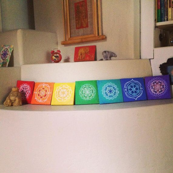 Custom Sacred Geometry Chakra Painting Sliding by FractalLotus