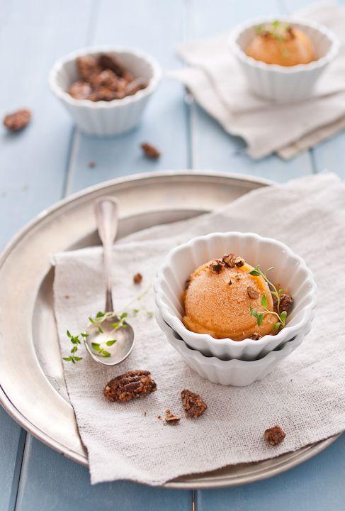 Peach Sorbet Recipe from TheConfidentBaker.com