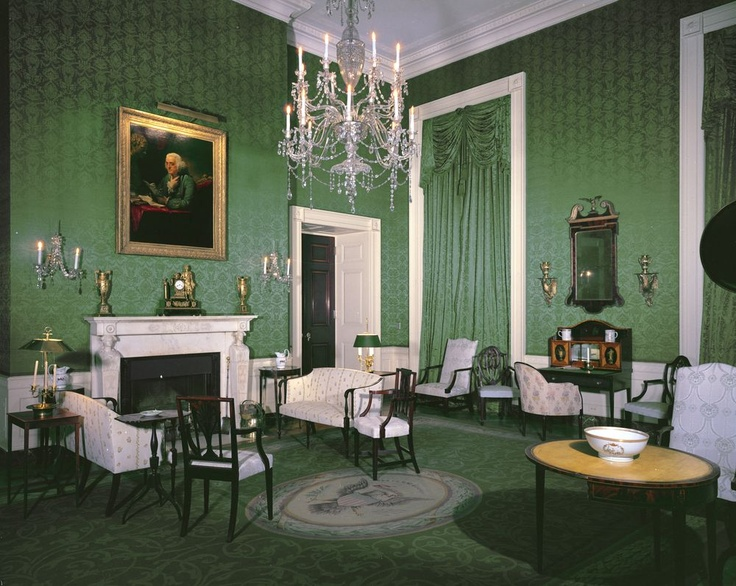 Jackie kennedy 39 s white house green room 39 decorporn for Buzzfeed best dining rooms