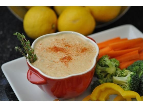 This white bean dip with lemon, thyme and smoked paprika is easy and ...