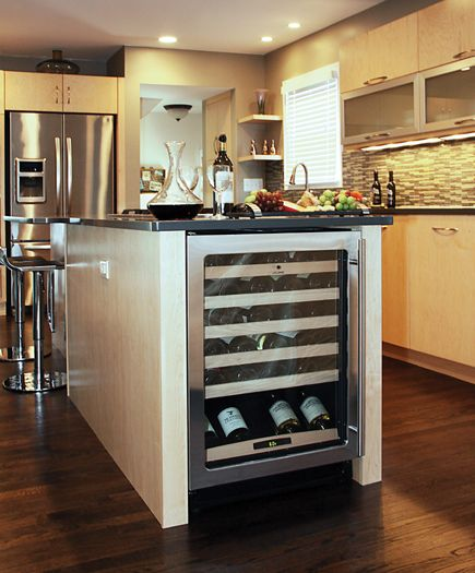 Wine Cooler In End Of Island Home And Garden Ideas