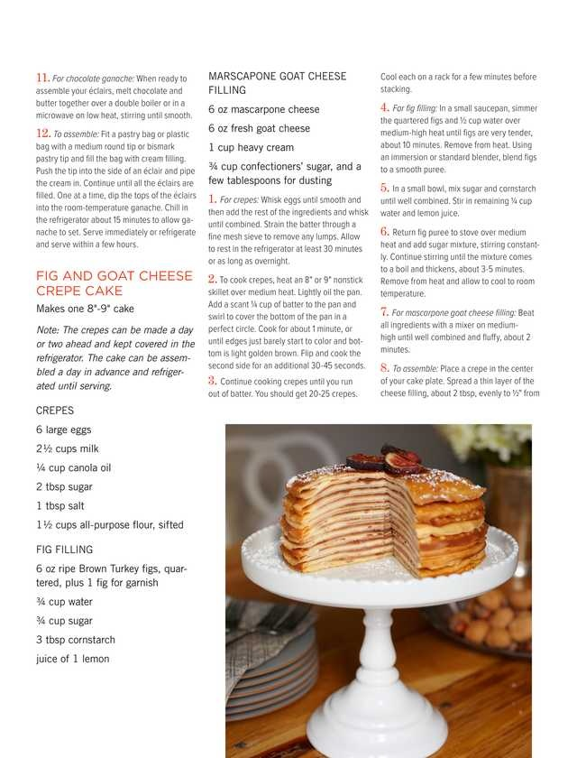 Make Ahead Buffet - Fig and Goat Cheese Crepe Cake