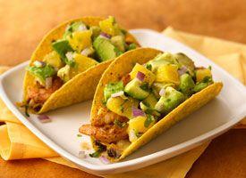 Spicy Citrus Shrimp and Black Bean Tacos with Orange-Avocado Salsa