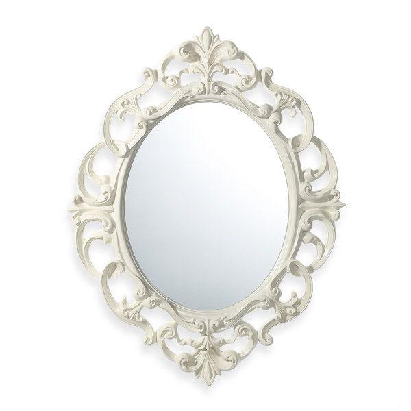 Baroque mirror white for Baroque bathroom mirror
