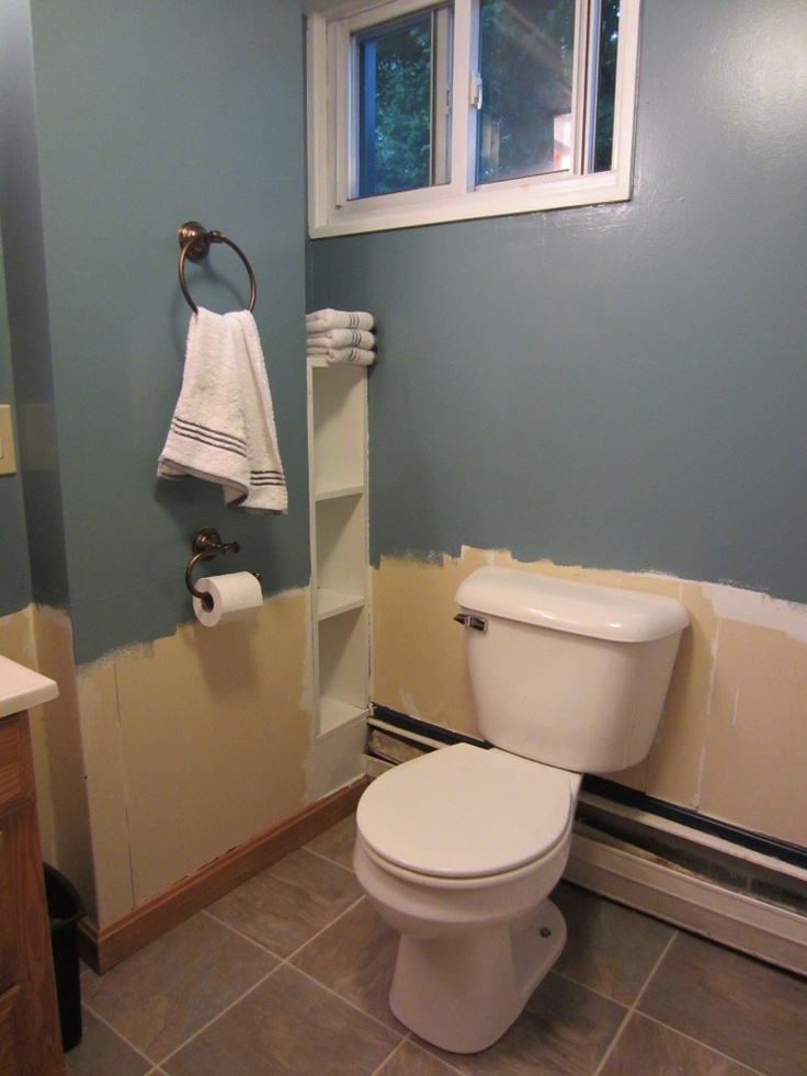 bathroom makeover behr waterscape paint colors