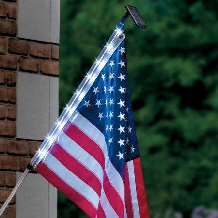 flagpole lighting solar