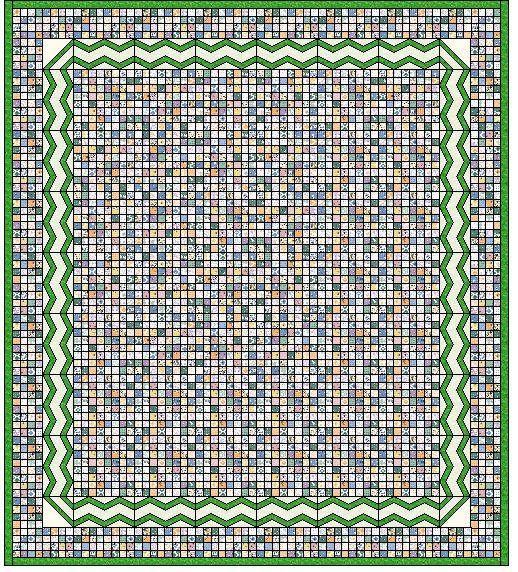 Postage Stamp Quilt Tutorial