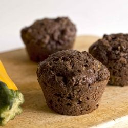 Use up all that extra summer squash: Chocolate Zucchini Muffins