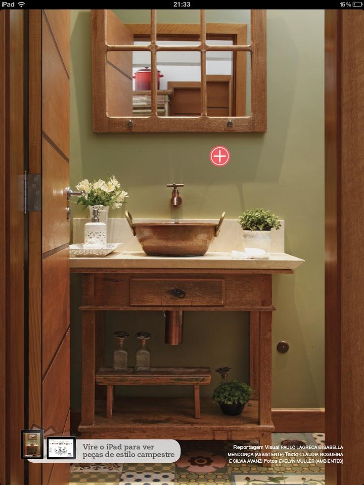 decoracao de lavabo rustico:Lavabo rustico