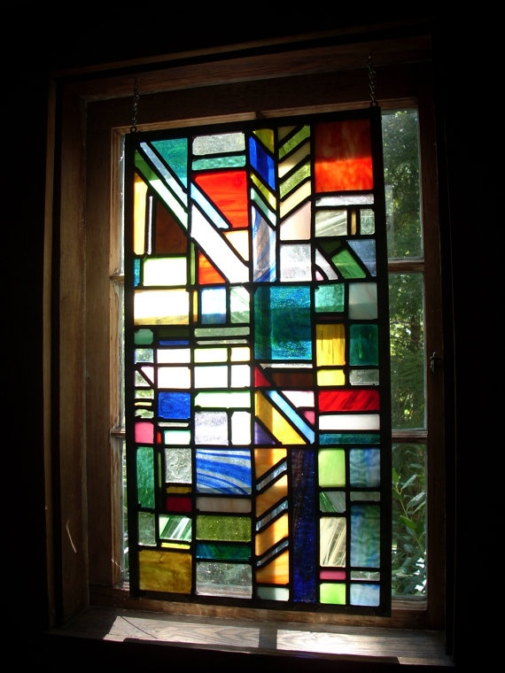Geometric stained glass window | ART: Stained Glass ...