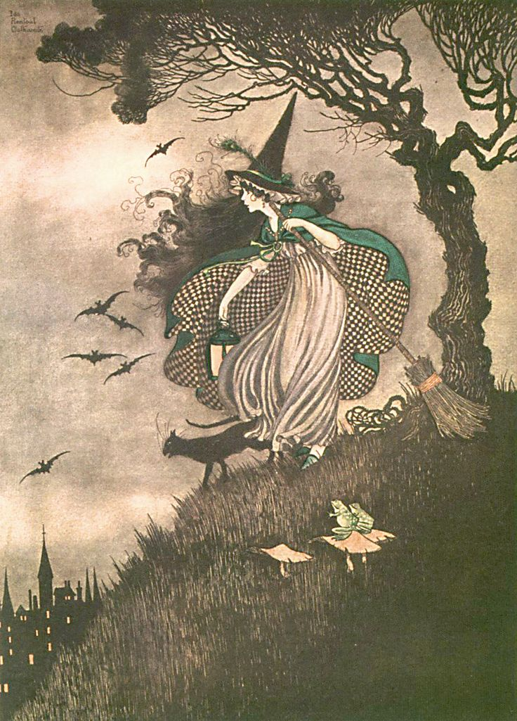 The Little Witch from Elves & Fairies by Ida Rentoul Outhwaite, 1916.