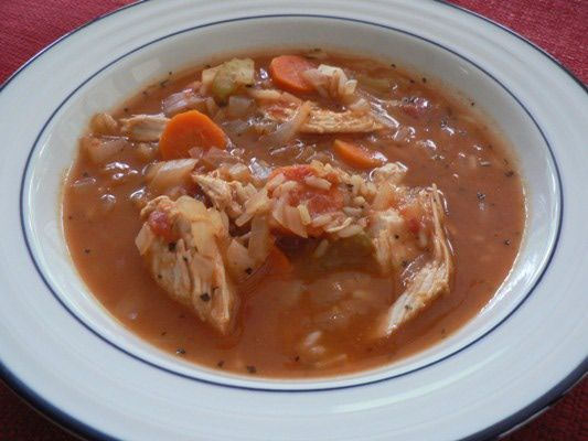 Low Fat Chunky Turkey and Rice Soup - Leftover Turkey Soup Recipe