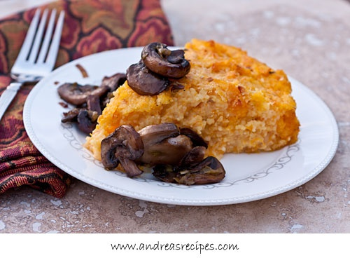 Roasted Butternut Squash Polenta with Smoked Gouda and Sauteed Mushro ...