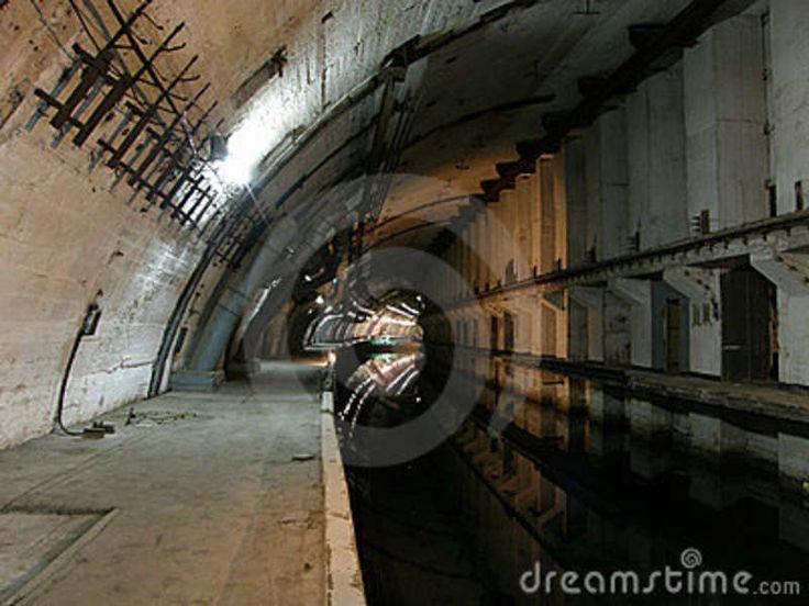 Abandoned Military Underground Bunker | Underground Nuclear Shelter For Submarines Stock Image - Image ...