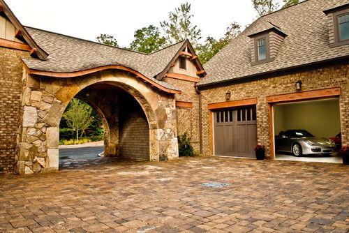 Drive through and courtyard dream home pinterest for House plans with portico garage