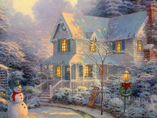live thomas kinkade christmas scenes christmas scenes. Black Bedroom Furniture Sets. Home Design Ideas