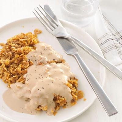 Chicken-Fried Steak With Cream Gravy   recipes   Pinterest